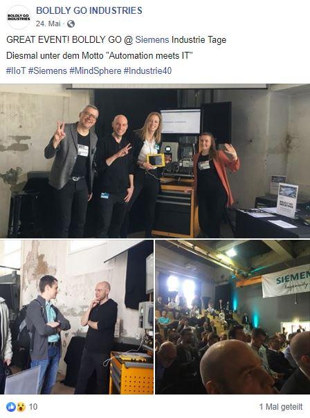 Boldly Go Industries, Siemens Industrietage Mainz, Consulting, Frankfurt