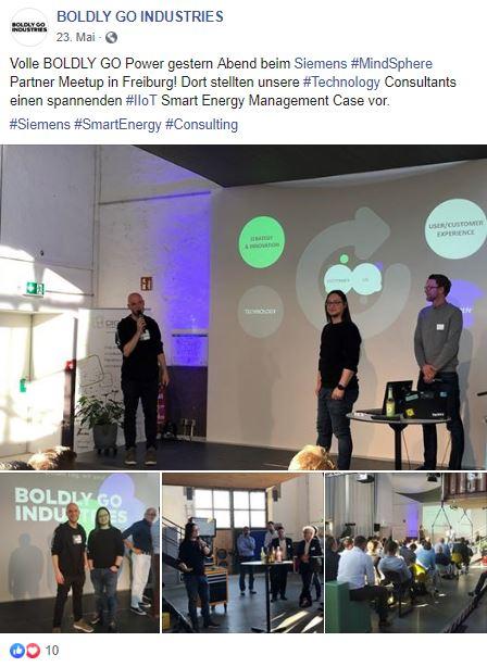 Boldly Go Industries, Siemens MindSphere, Meetup, IIoT, Consulting, Freiburg