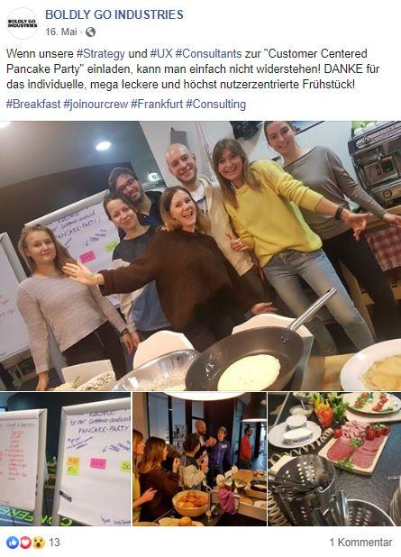 Boldly Go Industries, Breakfast, Frühstück, UX, Pancakes, Consulting, Frankfurt