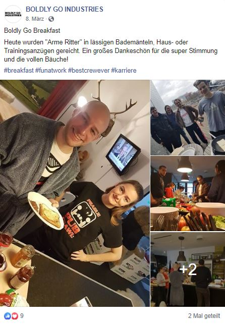 Boldly Go Industries, Breakfast, Frühstück, Consulting, Frankfurt