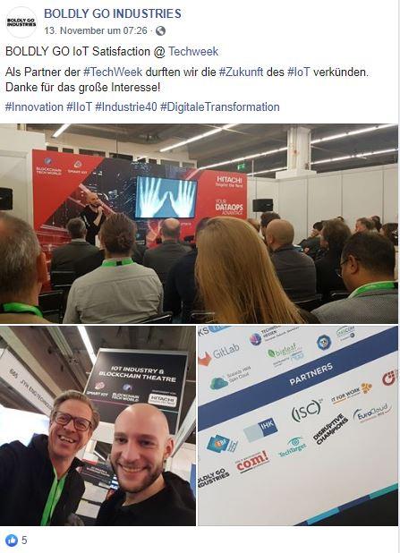 TechWeek Frankfurt, Speaker, Boldly Go Industries