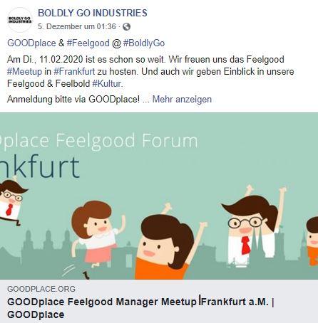 Goodplace Meetup, Frankfurt, Feel Good Management