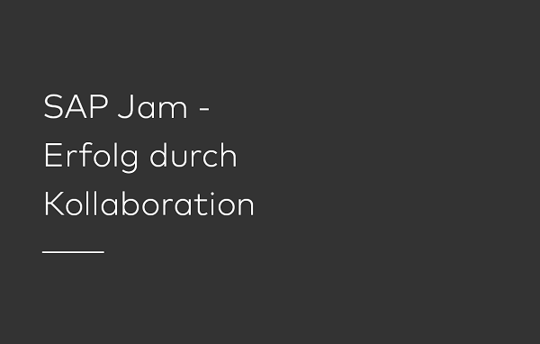 BOLDLY GO berät Sie gerne über SAP Jam